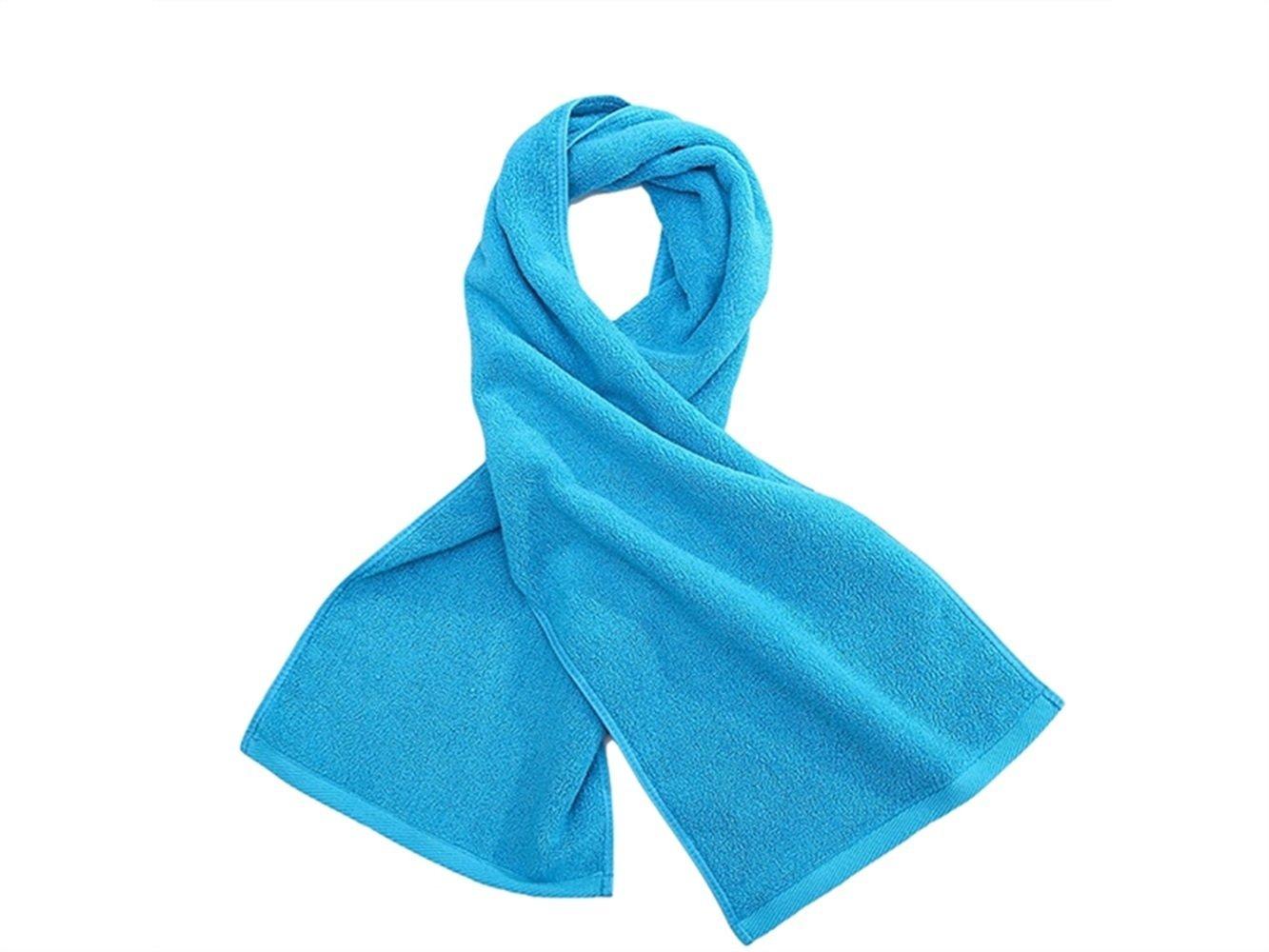 Wesource Activates Adult Cotton Run Sport Sweat Towel Absorbent Lengthen Movement Towel Gym(Blue)