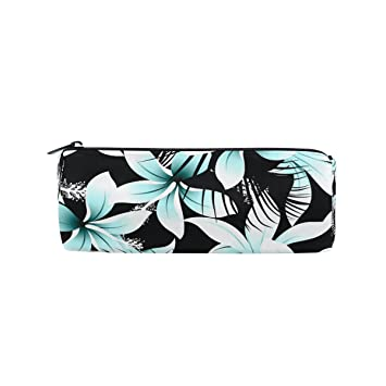 Amazon.com : Pencil Case Tropical Flower Leaf Abstract Pen ...