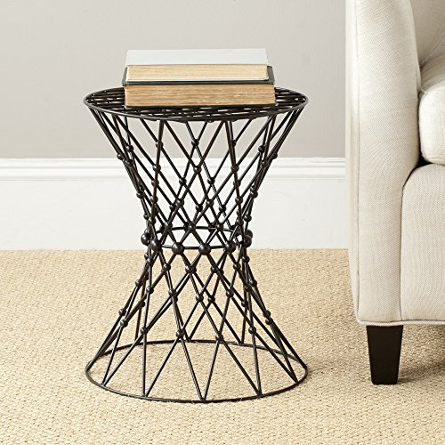 Safavieh Home Collection Clive Steelworks Iron Wire Stool, Black - Iron Safavieh Black
