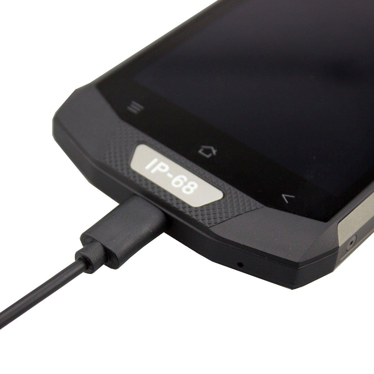 caseroxx Cable Cargador USB Type-C Outdoor para Blackview BV8000 / BV8000 Pro, Cargador Fuente de alimentación para Cargar el móvil (Cable Flexible y ...