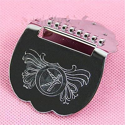 ULKEME New Brand Tailpiece Guitar Mandolin Scalloped Short Chrome