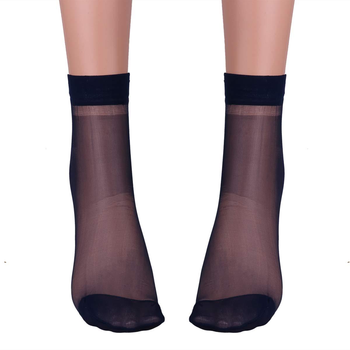 Freebily 3Par Calcetines Cortos de Hombres Mujeres Medias de Seda Tobillo El/ásticos para Verano Respirable Durable Calcetines Deportes de Running Camino Gimnasia Casual