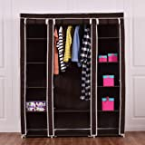 House of Quirk Fabric Storage Organizer with Shelves, Blue
