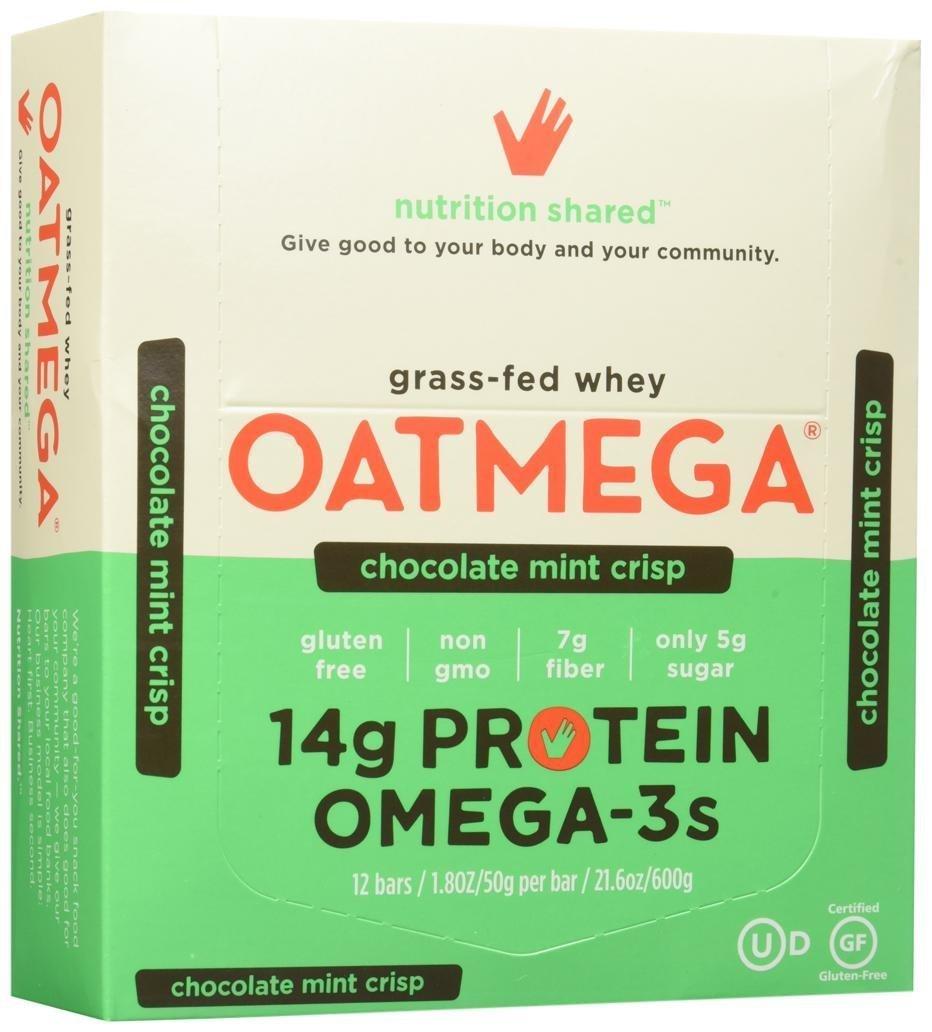 Oatmega Wellness Bars - Chocolate Mint Crisp - 12 ct