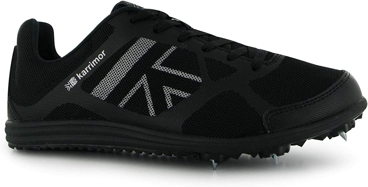 Karrimor Ninos MD Spike 3 Junior Correr Zapatillas Clavos Chico Deporte Entrenar Black/Silver 3 (36): Amazon.es: Zapatos y complementos