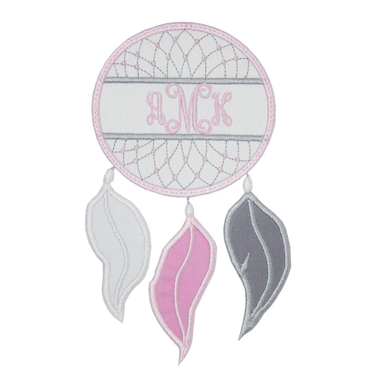 Girl Ghost Embroidered Monogram Patch your choice of sew on or iron on patch