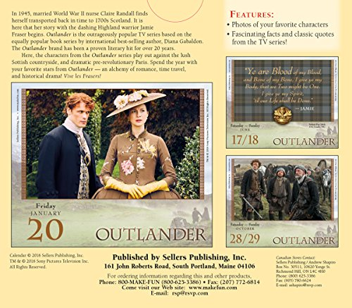Outlander 2017 Boxed/Daily Calendar
