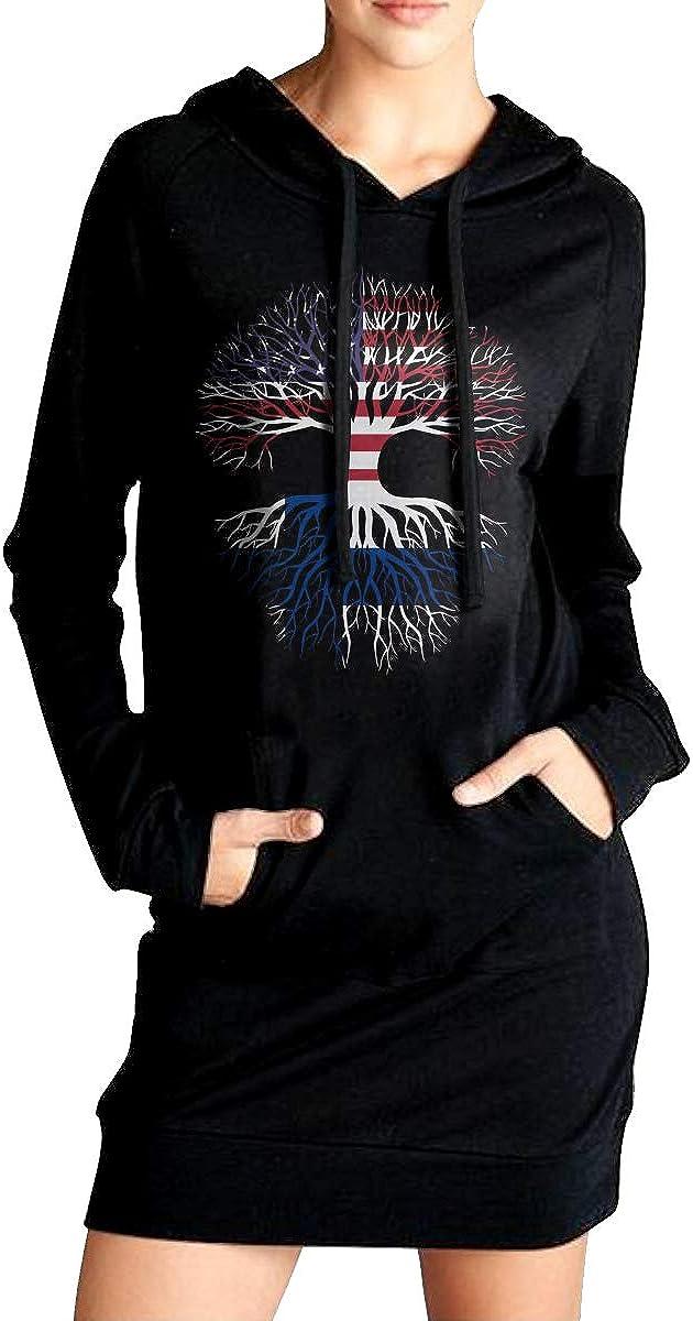 American Grown Finland Roots Coat with Kanga Pocket ADA/&KGH Womens Sports Sweatshirt Long Hoodie Dress