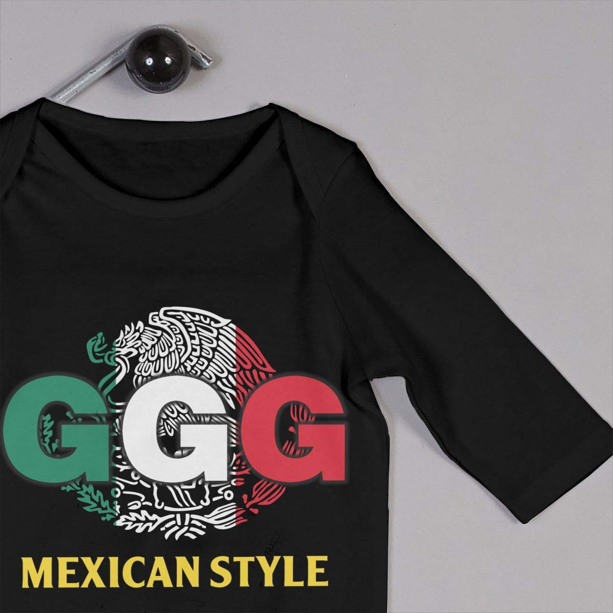 Estilo Mexicano GGG Gennady Golovkin Boxeo Niña Niño Bebé Manga Larga Bebé Niño Niño Camisetas(12M, Negro): Amazon.es: Ropa y accesorios