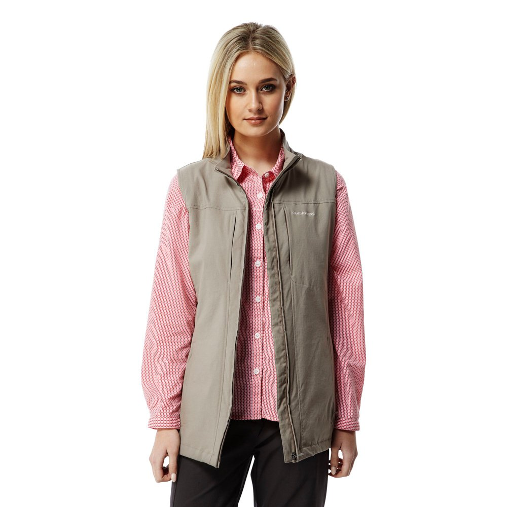 Craghoppers Women s Insect Shield Dainely Travel Vest Mushroom 14