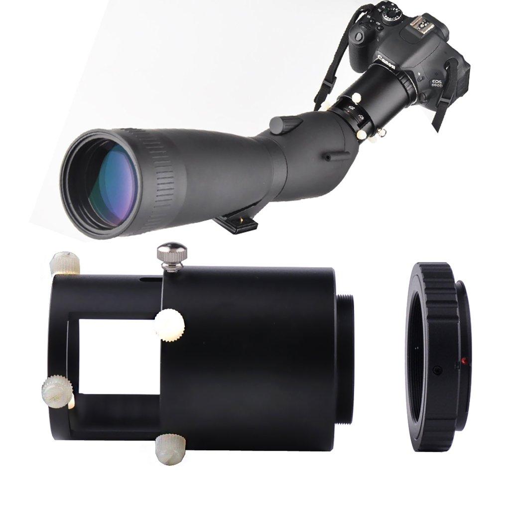 Gosky Adaptateur objectif pour appareil photo Support en métal avec oculaire 42mm pour télescope
