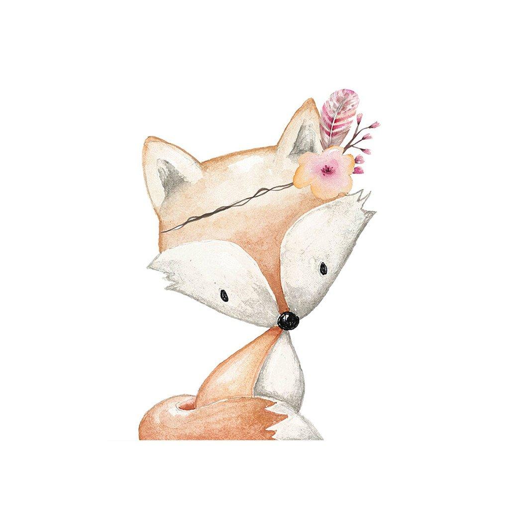 Display08 niedliche Tier-Fuchs mit Kunstdruck Gemälde Kinderzimmer ...