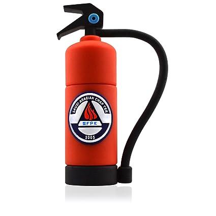 818-Shop no4300020064 Memorias USB extintor Fire departamento 3d(64 GB), color rojo