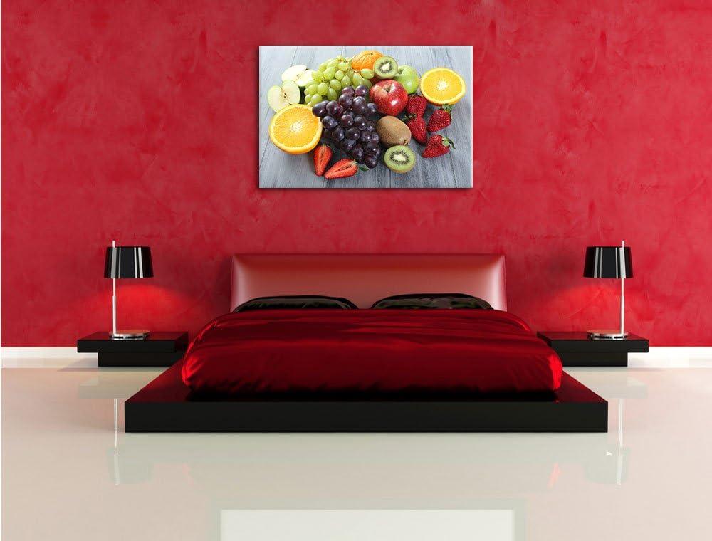 Croissant Croissant et le chocolat avec du caf/é Format: toile 60x40auf limpression de limage Art mural avec cadre XXL /énormes Photos compl/ètement encadr/és par la civi/ère moins cher que peintures /à lhuile et d