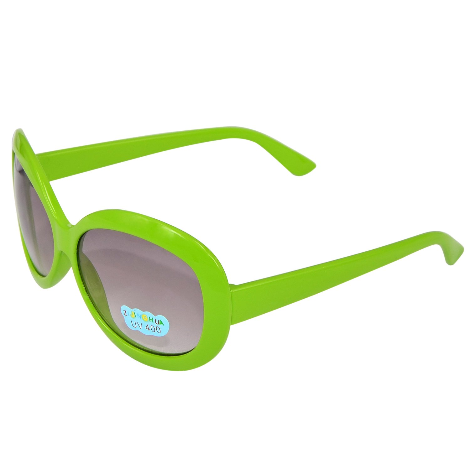 Kids Round Uv400 Protection Sunglasses Green free shipping