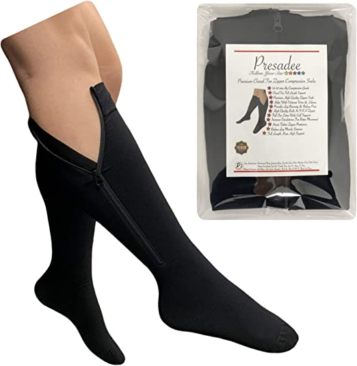 Presadee Closed Toe Big Tall Traditional 20-30mmHg Compression Swelling Leg Sock