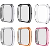 Full Cover Case Compatible with Fitbit Versa 2 Case, Electroplating TPU Silicone Screen Protector for Versa 2 Accessories Fra