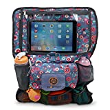 Back Seat Car Organizer & Entertainment Center - Safely Holds, ipad, Kindle or Android Tablet, Toys, Sippy Cup & Books for Your Baby, Toddler & Kids. Conveniently use it as a Stroller Bag.