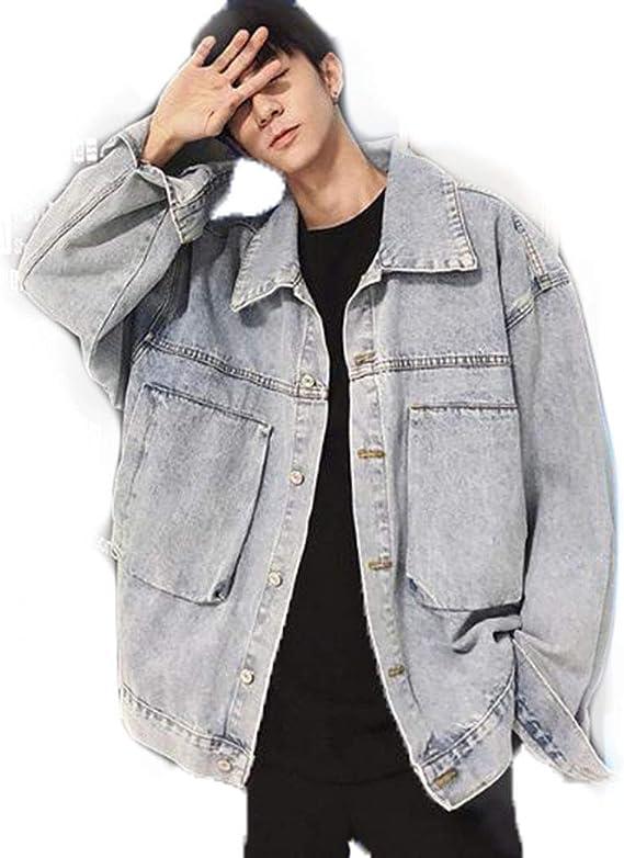 Feilei メンズ ジャケット デニムジャケット 上着 ゆったり デニム コート