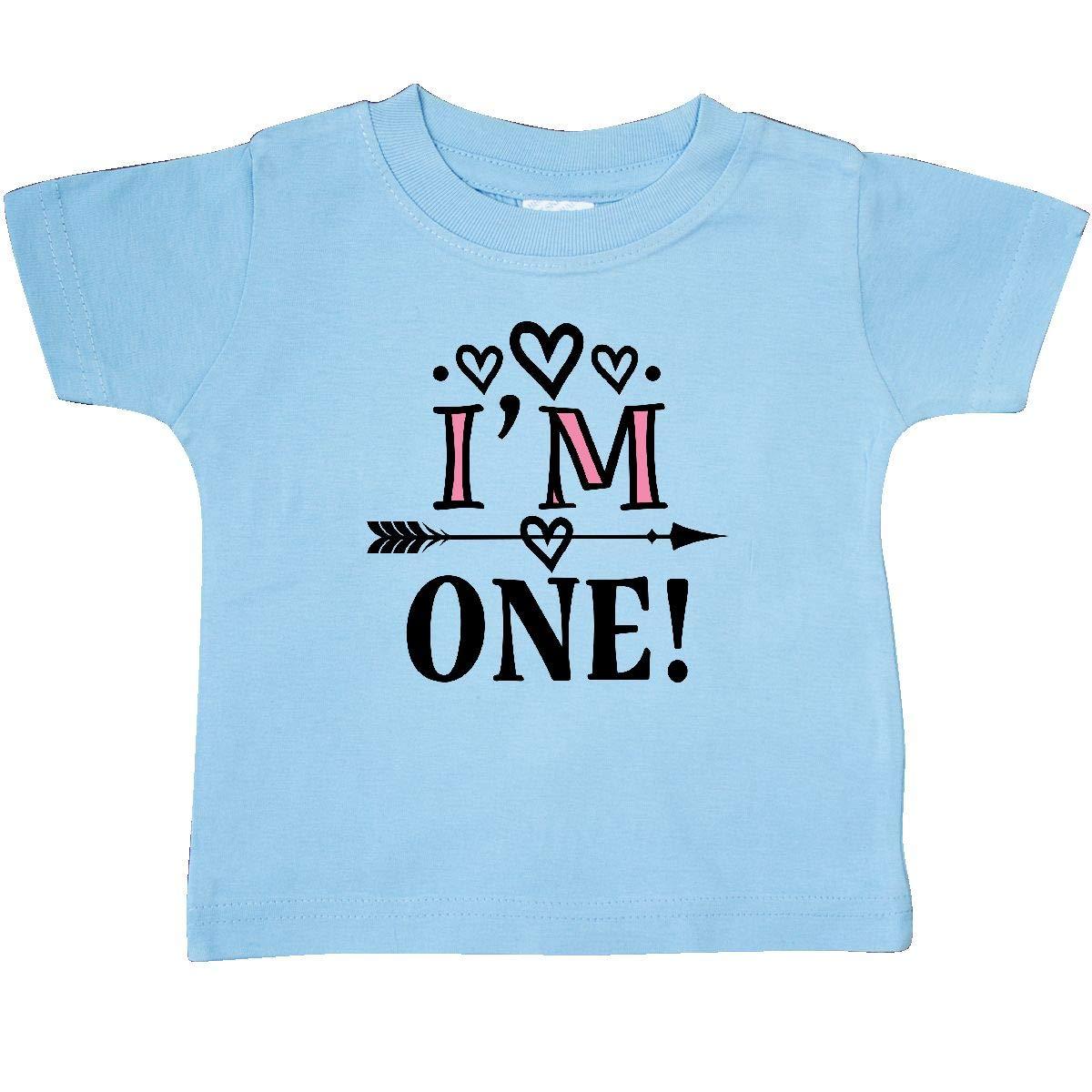 inktastic First Birthday 1 Year Old Cute Arrow Baby T-Shirt