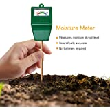MoonCity Soil Moisture Sensor Meter Tester, Soil Water Monitor, Humidity Plant Tester, Hygrometer Great For Garden, Farm, Lawn, Indoor & Outdoor (No Battery needed)
