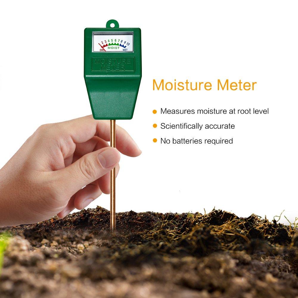 Sensor y medidor de humedad del suelo higrómetro ideal para jardín granja