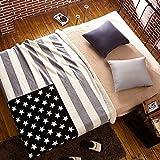 BEIZLSS Modern minimalist style geometric thickened blankets polyester-B 130x160cm(51x63cm)