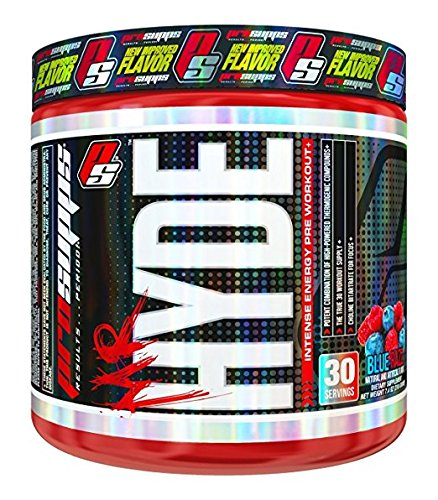 Pro Supps Mr. Hyde Intense Energy Pre-Workout Powder (Blue Razz Flavor), 30 True Servings, Ridiculous Focus, Massive Energy, Insane Muscle Pumps