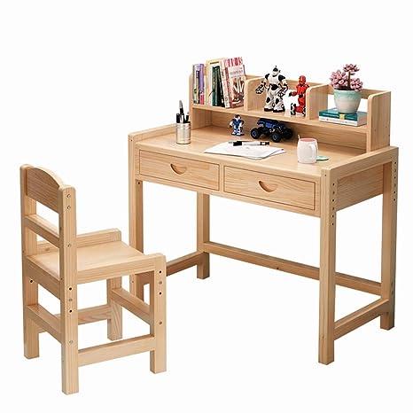 Amazon.com: Juego de sillas de escritorio, mesa de estudio ...