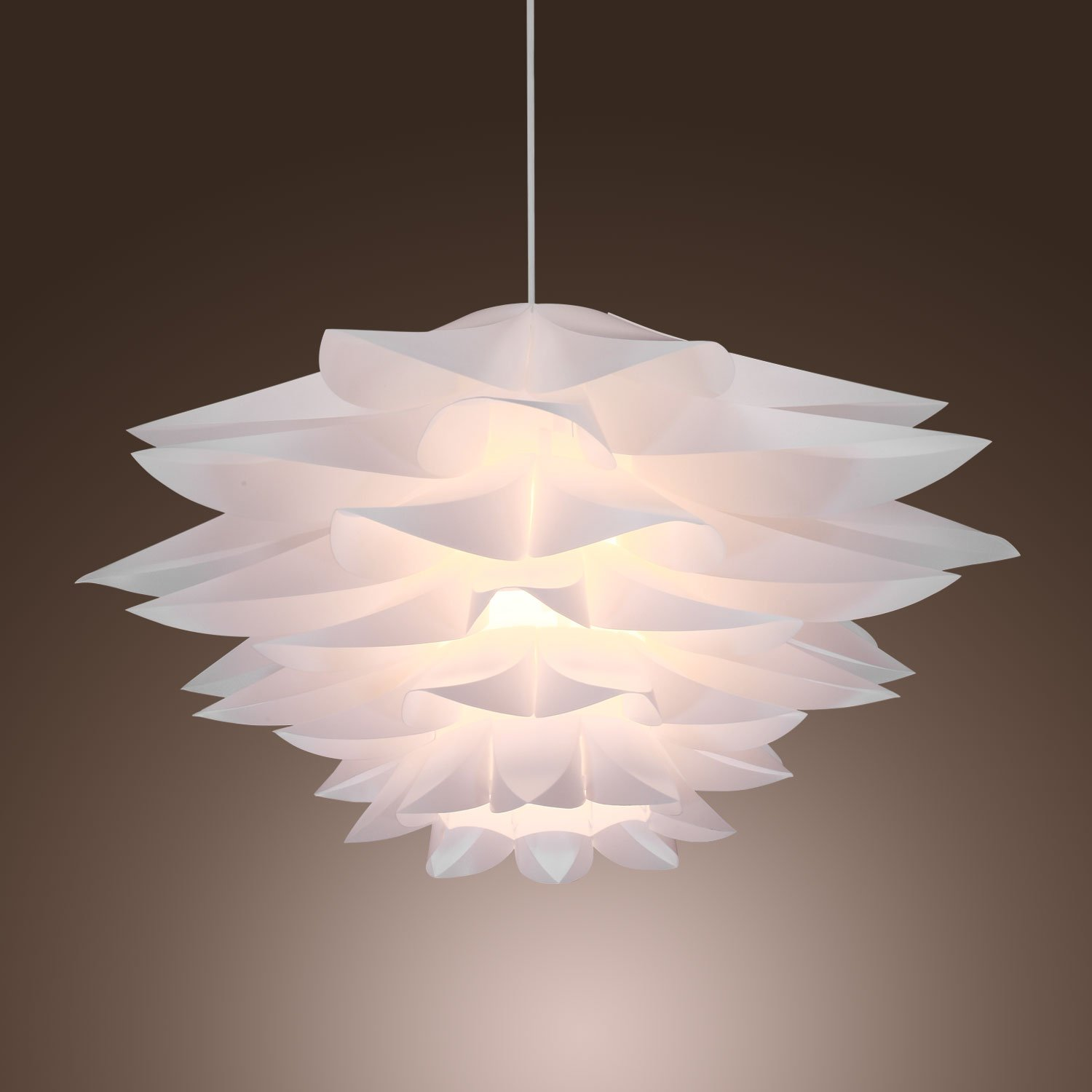 Lightinthebox 60w floral pendant light in petal featured shade lightinthebox 60w floral pendant light in petal featured shade modern ceiling light fixture for game room dining room bedroom ceiling pendant fixtures arubaitofo Gallery