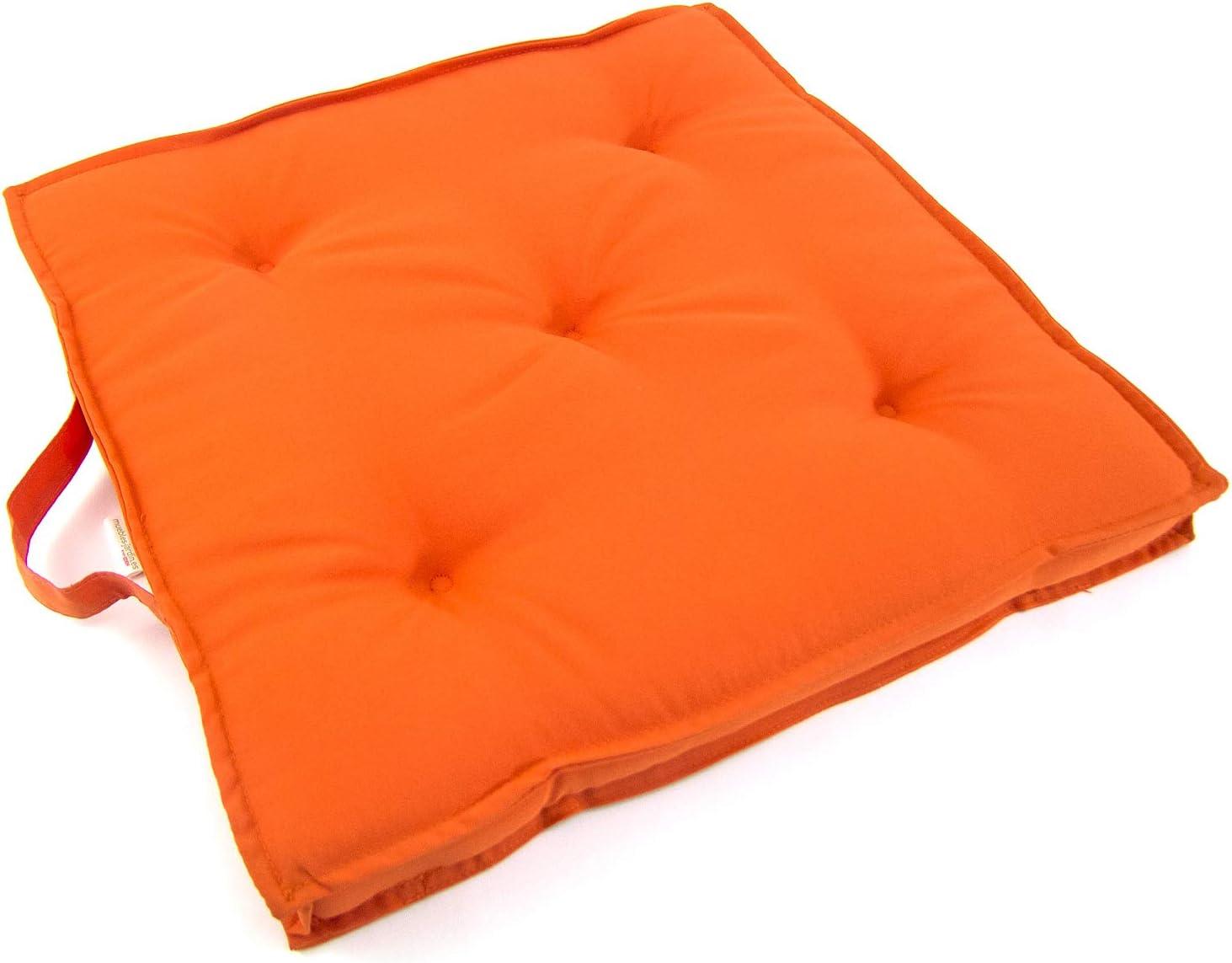 Repelente al Agua Tama/ño 42x42x5 cm Edenjardi Pack 2 Cojines para sillas de jard/ín Color Turquesa Desenfundable