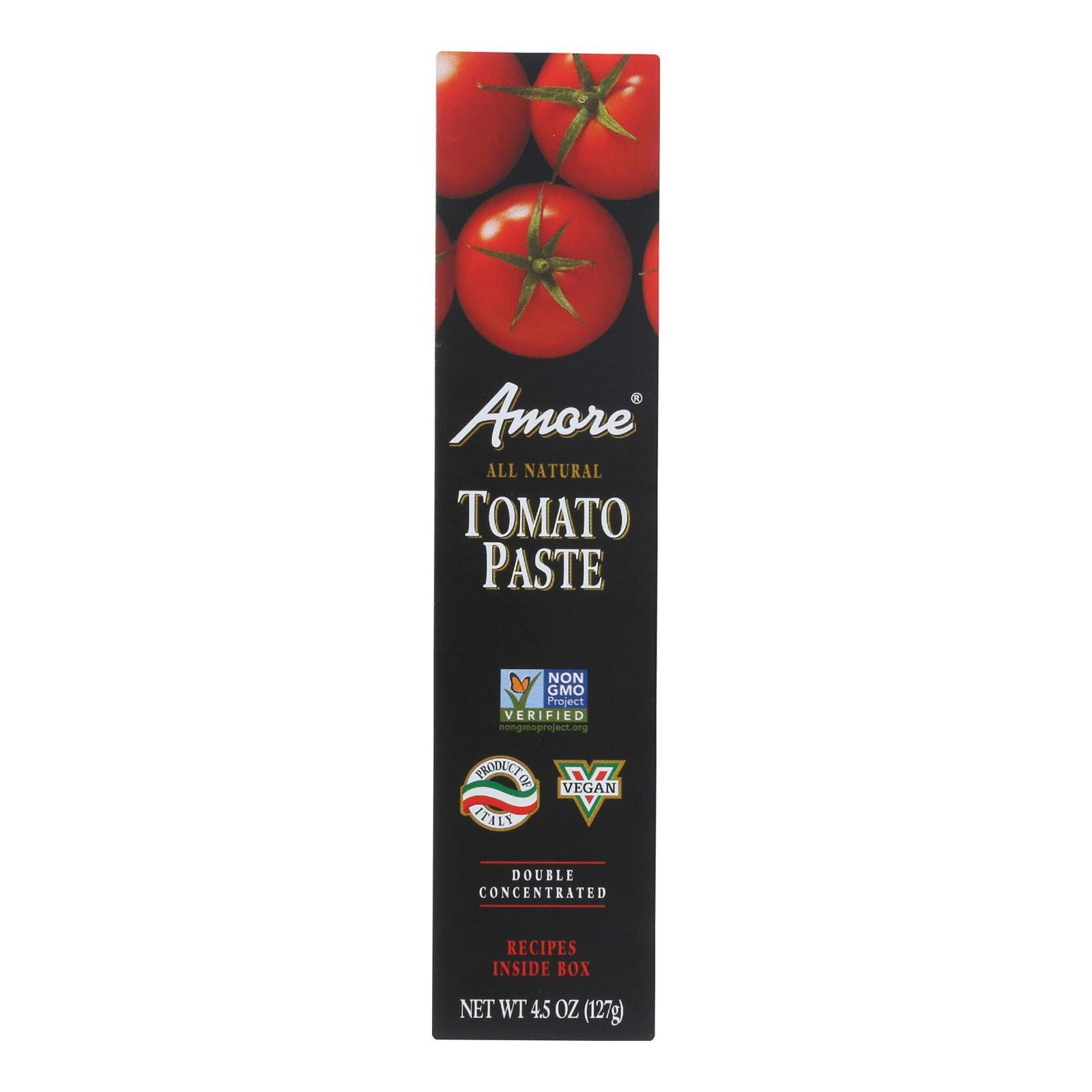 AMORE, Amore Tomato Paste - Tube - 4.5 oz - case of 12 - Pack of 12