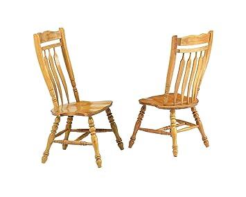 Pleasing Sunset Trading Aspen Dining Chair Set Of 2 42 Light Oak Pdpeps Interior Chair Design Pdpepsorg
