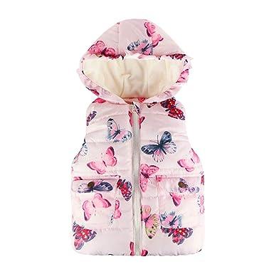 7614cc46555a Amazon.com  Keliay Toddler Baby Girl Boy Sleeveless Butterfly Floral ...