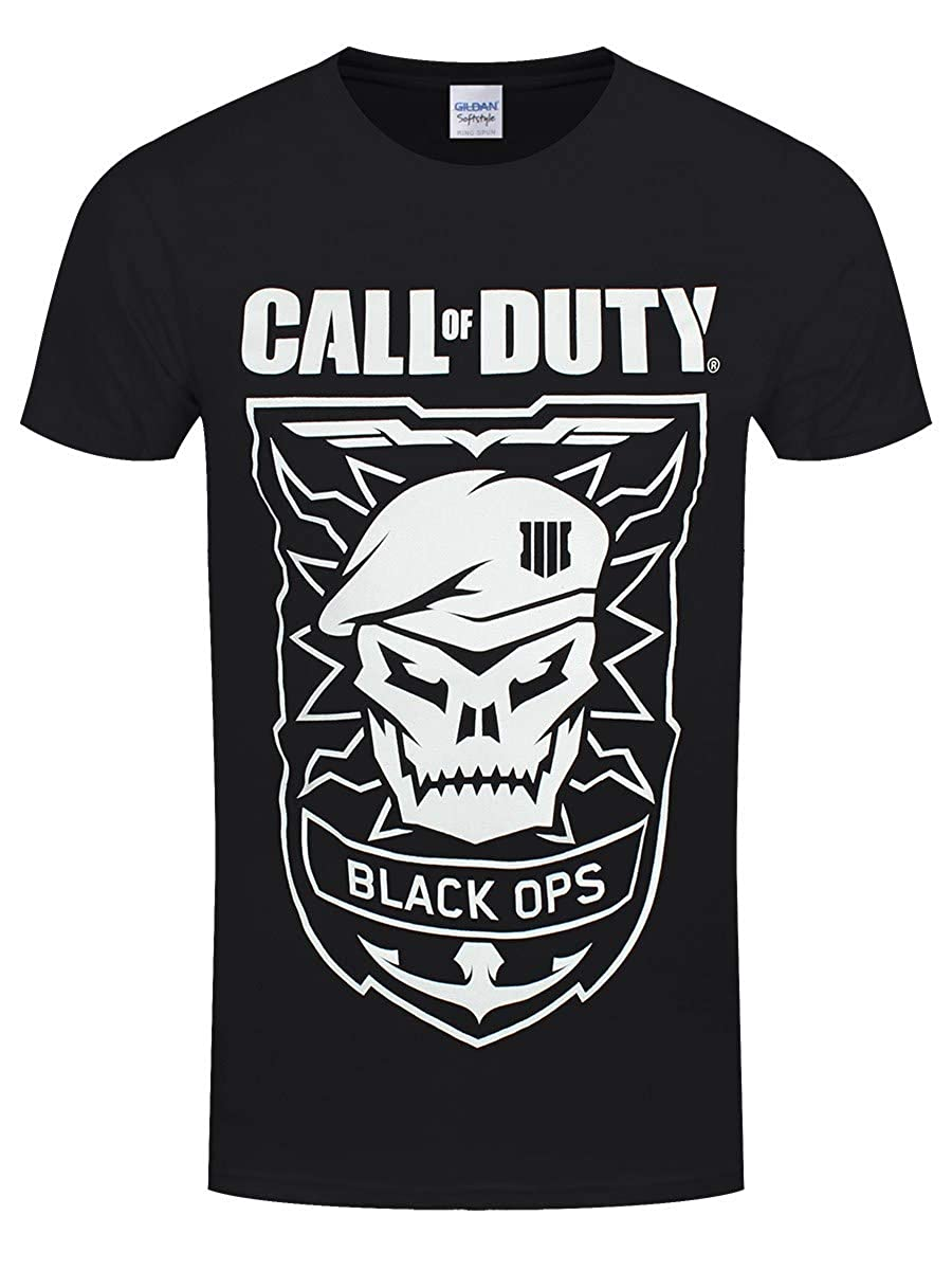Call of Duty Black Ops - Skull T-Shirt Nero