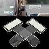 CALISTOUK 2pcs Car Invoice Ticket Folder Vehicle Parking Ticket Permit Holder Clip Sticker Auto Windscreen Window Holder