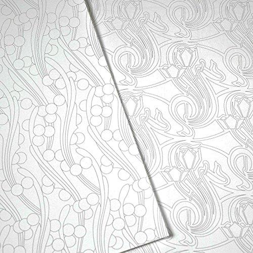 85%OFF Libro de Artistas para Colorear PEPIN ART NOUEVEAU 16 Diseños ...