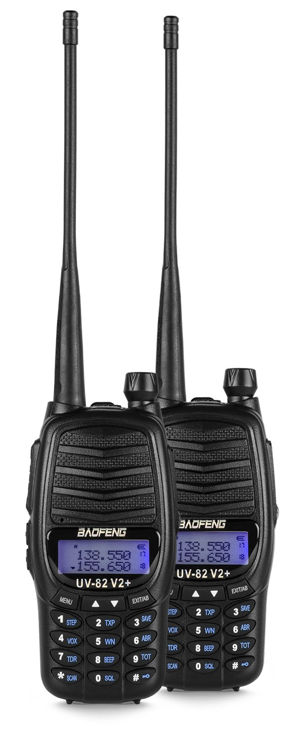 Baofeng 2-Pack UV-5R V2+UV-5R V2+ Plus Dual-Band 136-174/400-480 MHz FM Ham Two-way Radio, Improved Stronger Case, Enhanced Features - Black 2 pack (Latest 2014 Firmware) by BaoFeng (Image #2)