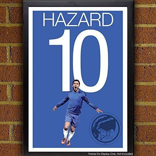 Hazard Poster - Chelsea Soccer Art