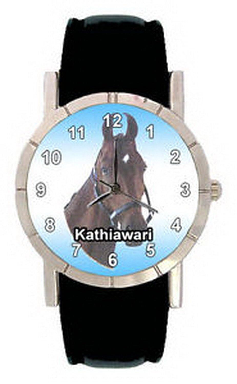 jwl0995 Kathiawari Breed Horseメンズレディース本革クォーツ腕時計 B01NAJZLOA