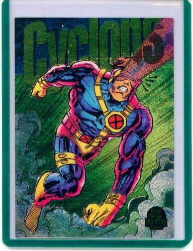 - 1994 Marvel Universe Power Blast Cyclops Insert Card #8 of 9