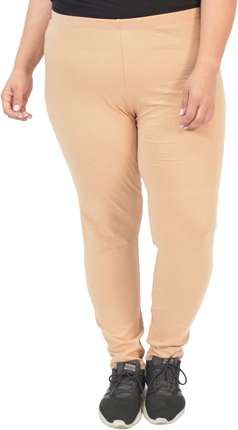 Women's Cotton Plus Size Leggings | Stretchy | X-Large - 5X | Made in The USA