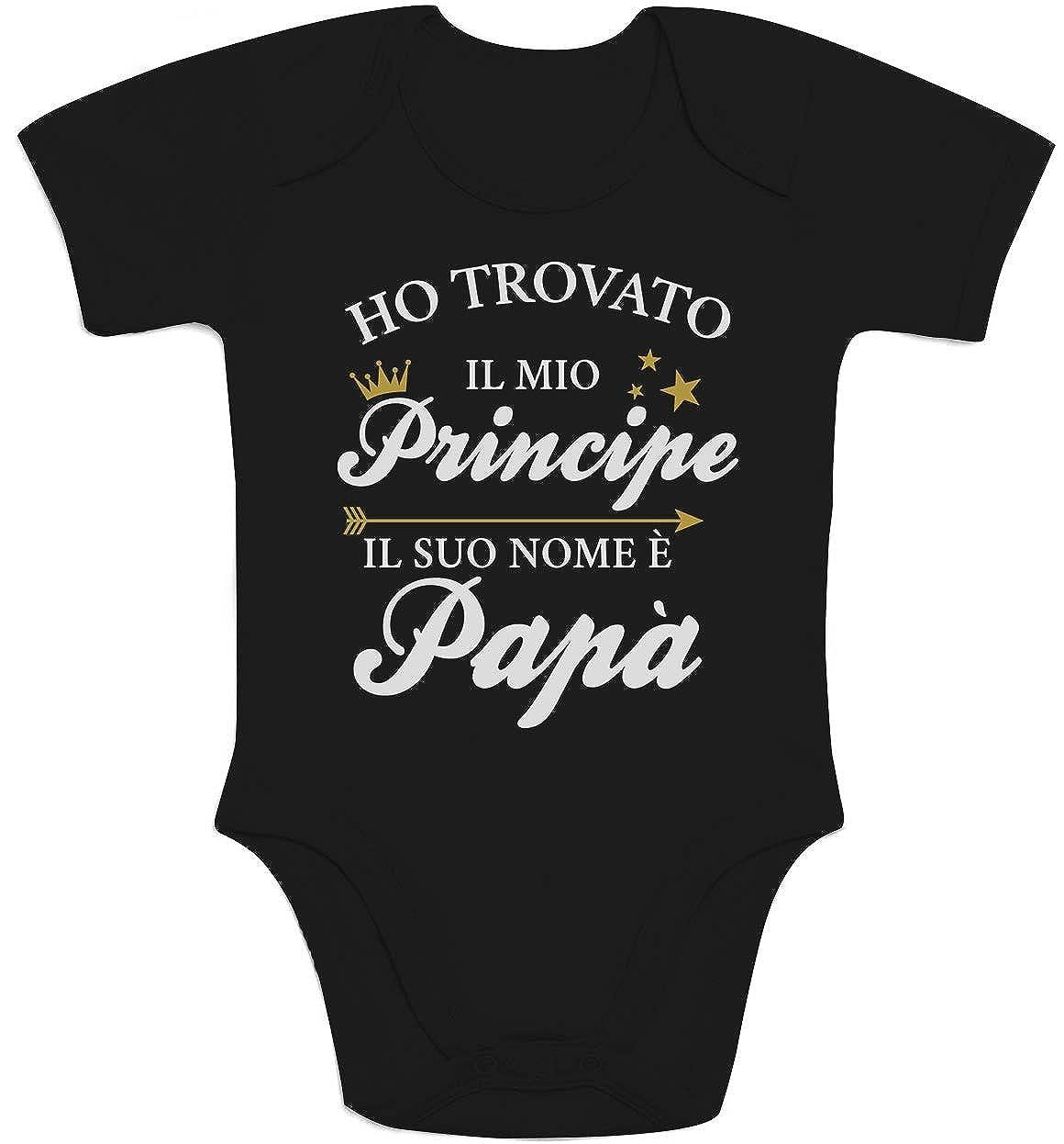 pap/à Body Neonato Manica Corta Shirtgeil Ho Trovato Il Mio Principe