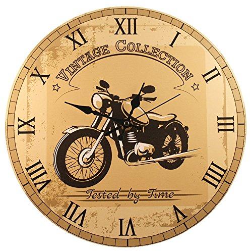 Motorcycle Wall Clock - 'Vintage Motorcycle' (11