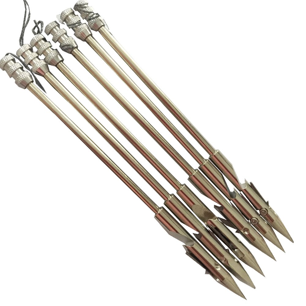 jiexi hwyp Slingshot Arrow for Fishing 6 2 Stainless Steel Bow Fishing Arrow Pack of 6