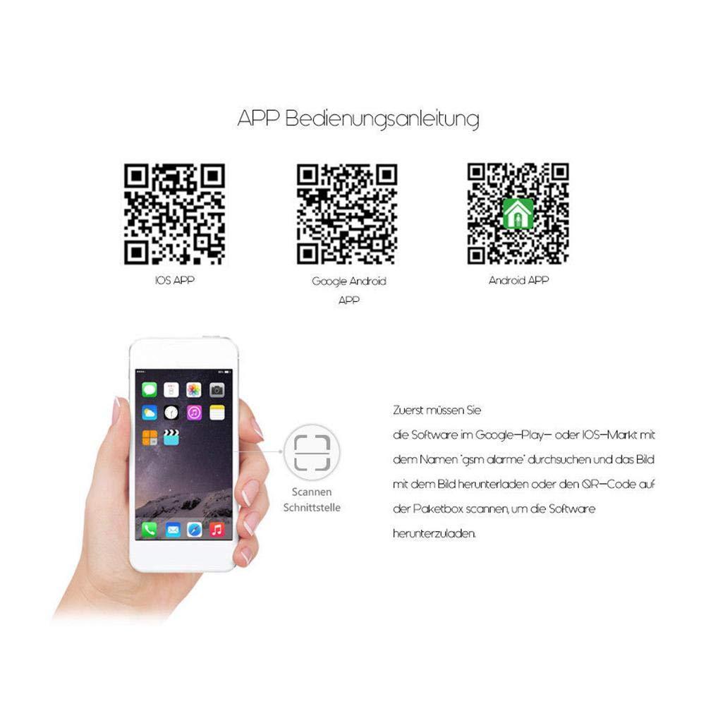 Sistema de seguridad de alarma Chen0-Super Home, inalámbrico GSM mando a distancia inteligente pantalla LED de voz para casa oficina Business Burglar alarma ...
