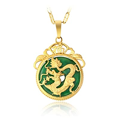 Amazon mcsays chinese aaa tibet gold green jade dragon malay mcsays chinese aaa tibet gold green jade dragon malay jade pendant necklace pendants pendent gift aloadofball Image collections