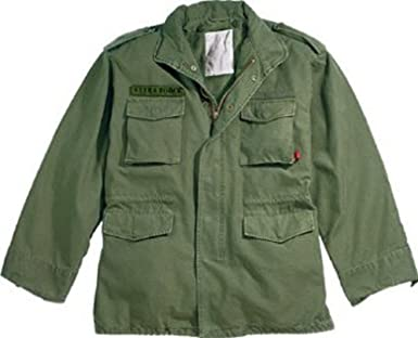 Amazon.com  Olive Drab Military Vintage M-65 Field Jacket 8603 Size Large   Military Coats And Jackets  Clothing 4f20a76b5