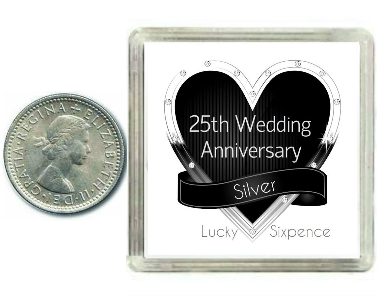 Lucky Sixpence Coin Silver 25th Wedding Anniversary Gift Great