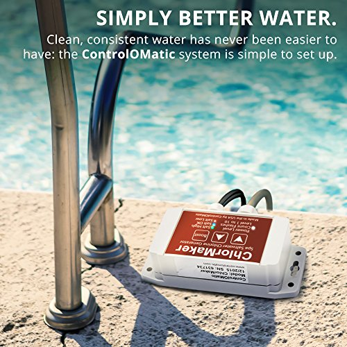 ControlOMatic ChlorMaker Saltwater Chlorine Generation System for Pools, Hot Tubs, and Spas up to 1,000 Gallons - 30 Gram Maximum Daily Chlorine Generation, Chlorinating Cycle Every 3 Hours